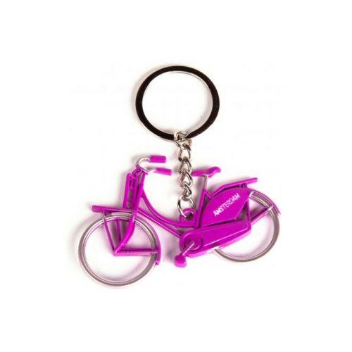 Sleutelhanger Amsterdam metallic roze