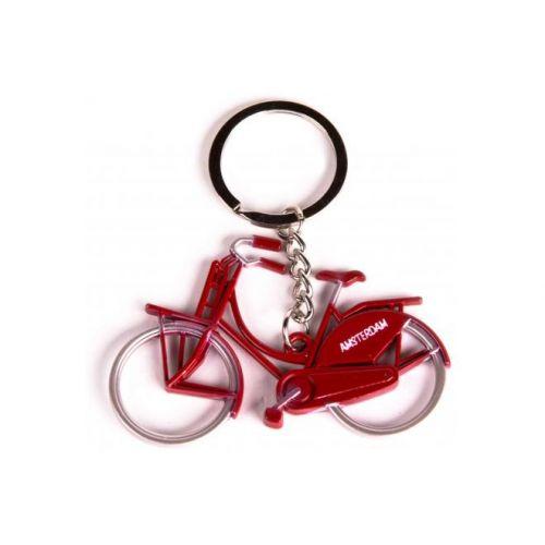 Sleutelhanger Amsterdam metallic rood