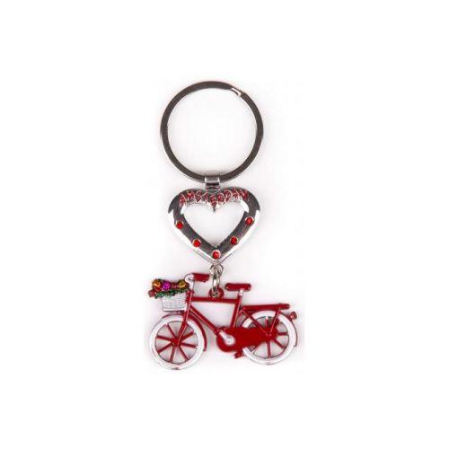 Sleutelhanger Amsterdam rood met hart