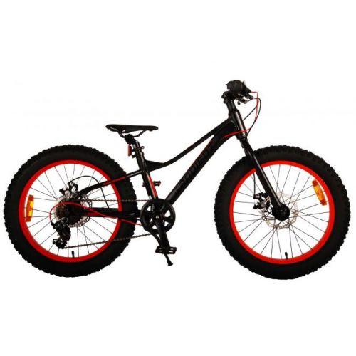 Volare Gradient mountainbike 20 inch zwart oranje rood 6 speed