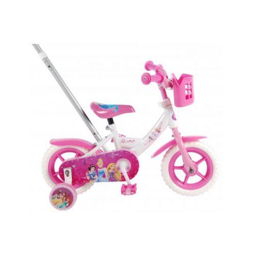 Disney Princess meisjesfiets 10 inch roze wit