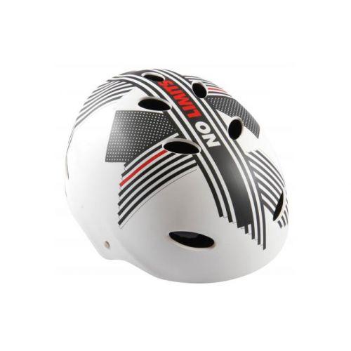 Volare fietshelm skatehelm No Limits wit grijs rood
