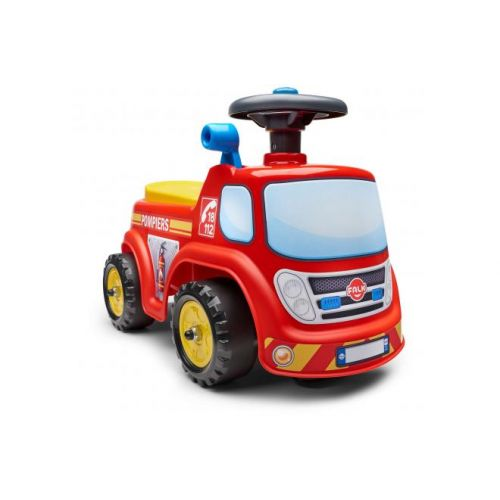 Falk Fireman Ride on unisex rood geel loopauto