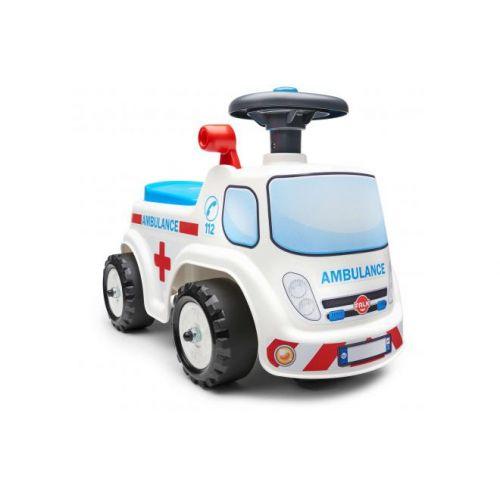 Falk Ambulance Ride on unisex wit loopauto