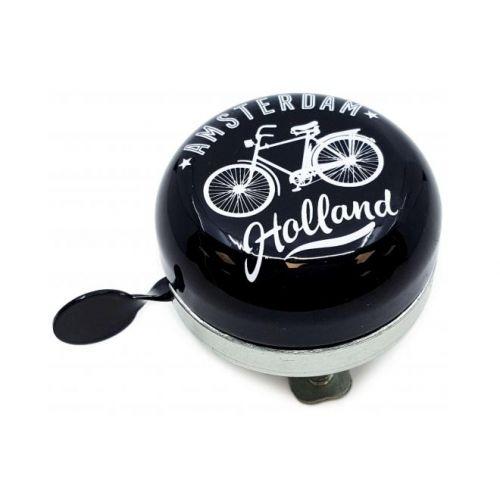 Amsterdam fietsbel zwart 58 mm