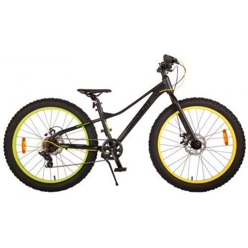 Volare Gradient mountainbike 24 inch zwart groen geel 7 speed