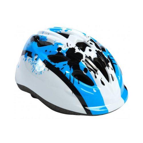Volare Kinder fietshelm XS blauw wit 47-51 cm extra klein model