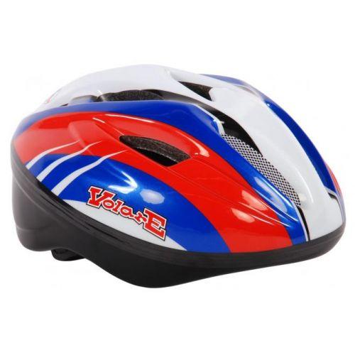 Volare fietshelm deluxe rood blauw wit 51-55 cm