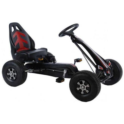 Volare Go Kart Racing Car jongens groot luchtbanden zwart