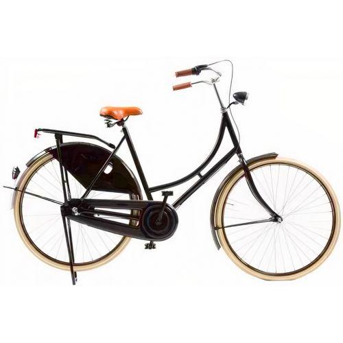 Classic De Luxe 28 Inch 50 cm Dames 3V Rollerbrake Zwart