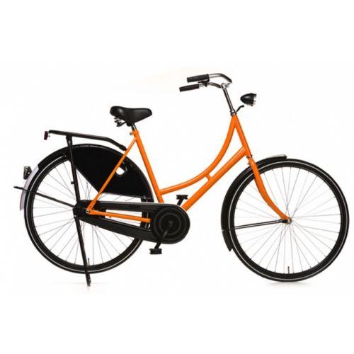 Oma Export 28 Inch 57 cm Dames Terugtraprem Zwart/Oranje