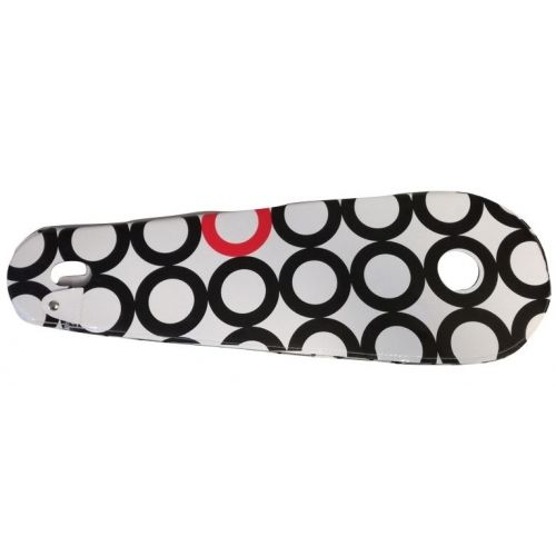 kettingkast lakdoek 28 inch 68,5 x 22 cm wit/zwart