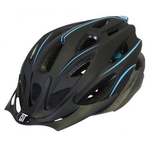 fietshelm Fuse unisex matzwart/blauw maat L