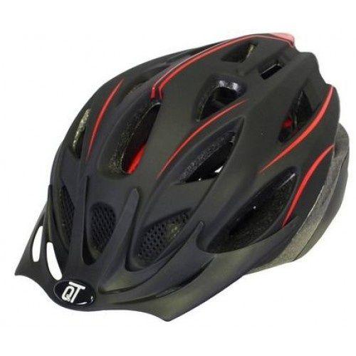 fietshelm Fuse unisex matzwart/rood maat L