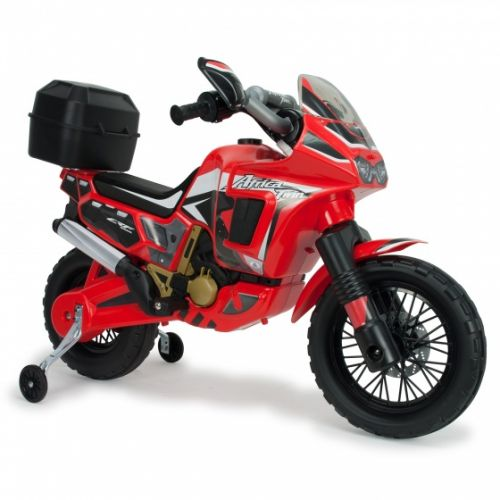 accuvoertuig motorbike Honda Africa 6V 100 cm rood