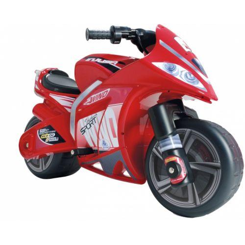 accuvoertuig motorbike Wind 6V 100 cm rood