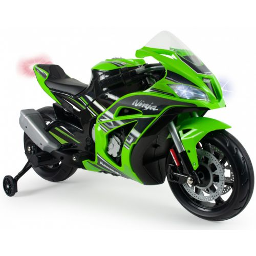 accuvoertuig motorfiets Kawasaki ZX10 12V groen/zwart