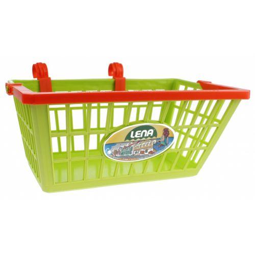 fietsmandje 27 x 20 x 14 cm groen/oranje