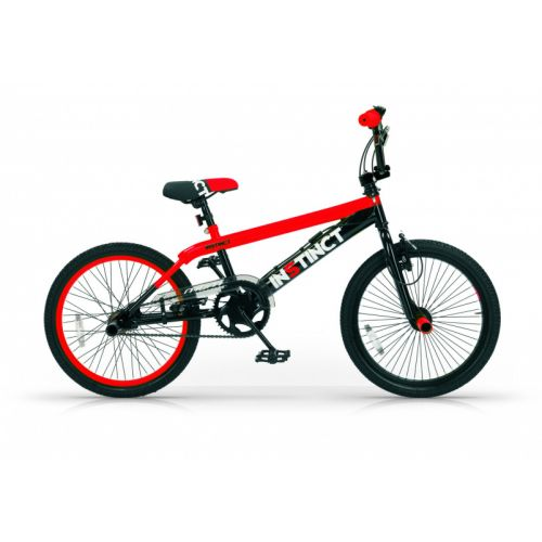 Instinct 20 Inch 49 cm Jongens V-Brake Zwart/Rood