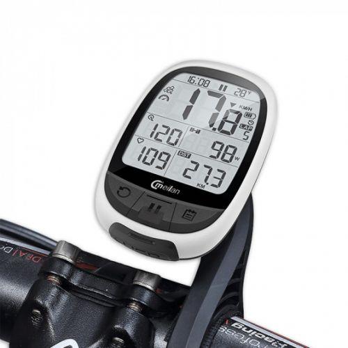 fietscomputer GPS M2 266 gram 2.4 inch wit/zwart