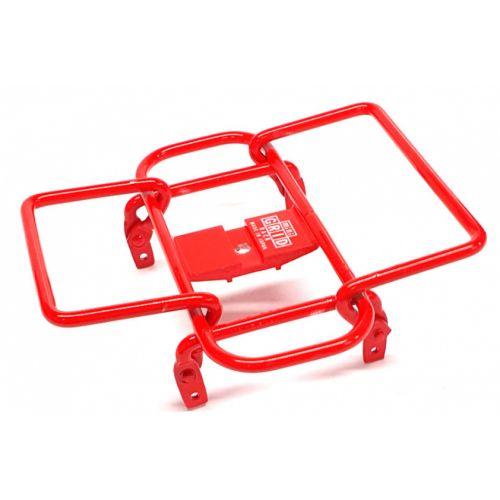 bagagerek Mini Grid stuur 14 x 14 cm staal rood