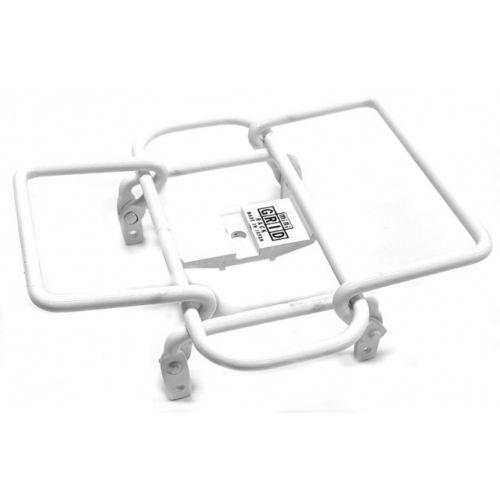 bagagerek Mini Grid stuur 14 x 14 cm staal wit