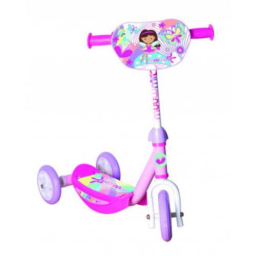 3-wiel kinderstep Dora Junior Voetrem Roze