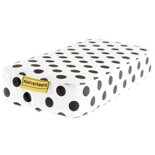 bagagedragerkussen Dots wit 32 cm