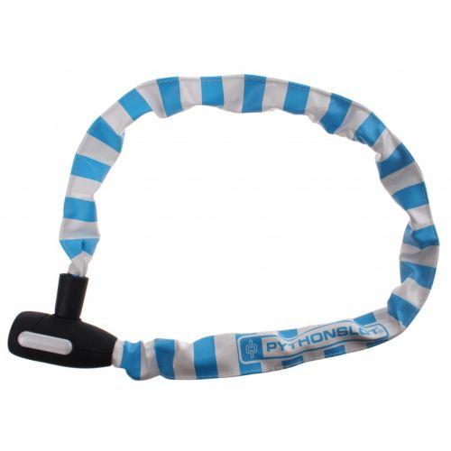 kettingslot 90 cm wit/blauw