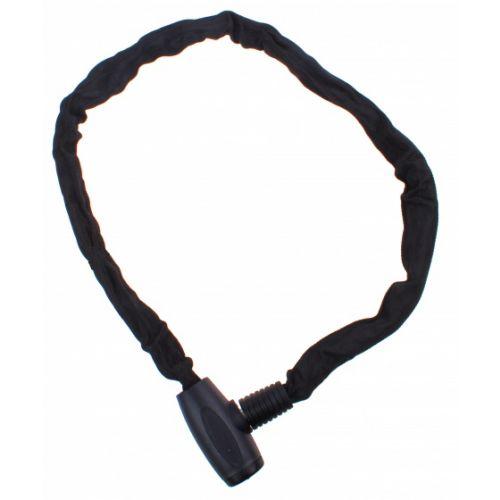 kettingslot vaste kop 110 cm 6 mm zwart