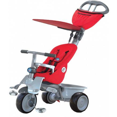 4-in-1-driewieler Recliner Junior Rood/Grijs