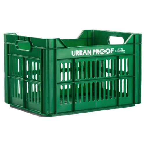 fietskrat 30 liter polypropyleen groen