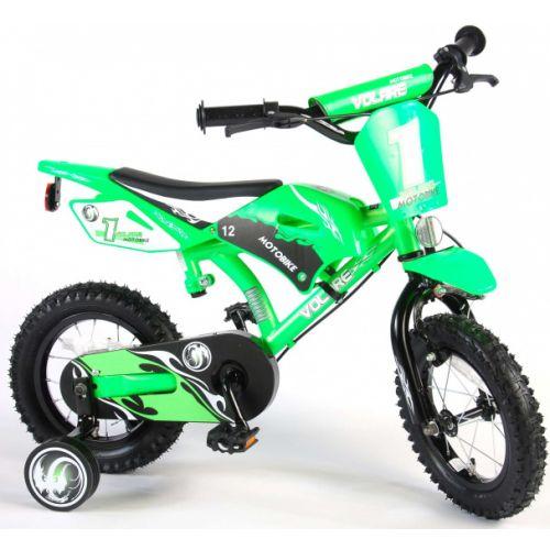 Motobike 12 Inch 21,5 cm Jongens Knijprem Groen