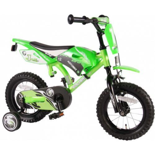 Motobike 12 Inch 21,5 cm Jongens Terugtraprem Groen