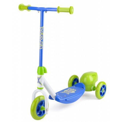 3-wiel kinderstep Bubble Scooter Jongens Voetrem Groen/Blauw