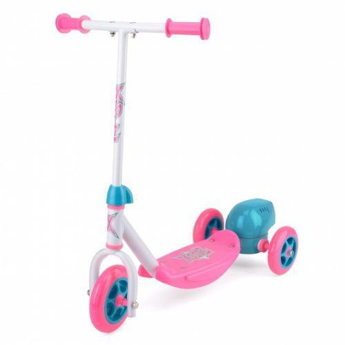 3-wiel kinderstep Bubble Scooter Meisjes Voetrem Roze