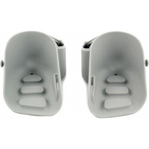 voetsteunen Mini junior 10 x 13 cm grijs 2 stuks